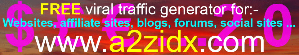 Free viral traffic generator Version 2.0  Free viral marketing system - Registered websites